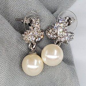 Earrings Studs Crystals Czech Pearls